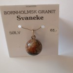 Granitperle m/sølv-øsken